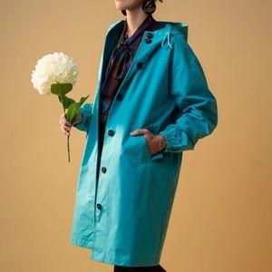 Windbreaker Aquamarine Rain-Jacket